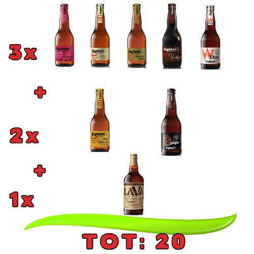"""assaggio septem birre artigianali greche - BIRRE SEPTEM - Confezione """"assaggio"""""""