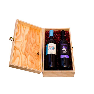 cassetta due autoctoni rossi - Cassetta regalo  2 vini autoctoni greci