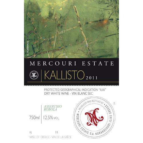 etichetta kallisto - VINO GRECO BIANCO KALLISTO MERKOURI