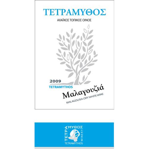 malagousia etichetta - MALAGOUSIA TETRAMYTHOS ΒΙΟ