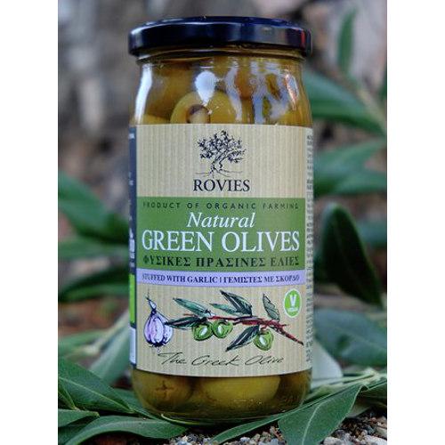 olive verdi bio ripiene aglio rovies