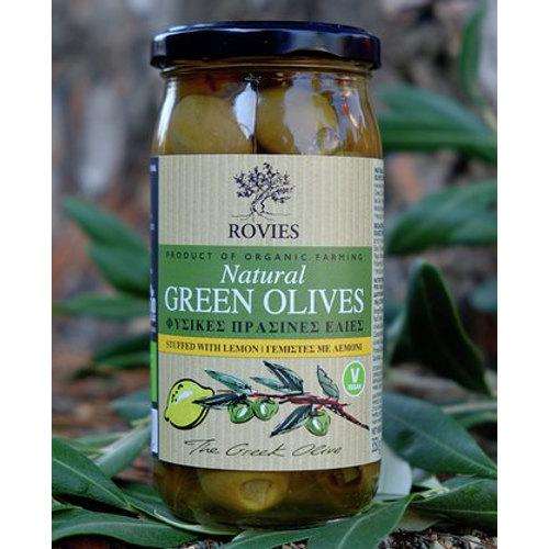 olive verdi bio ripiene limone