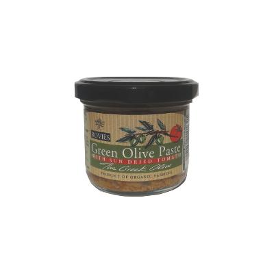 pasta olive - Pasta biologica di olive verdi con pomodori secchi