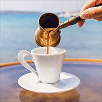 caffè alla greca - Bricco artigianale per caffè greco