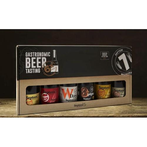 scatola regalo 6 birre gastronomiche septem